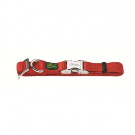 Coleira Alu-Forte 15*30-45 Vermelho