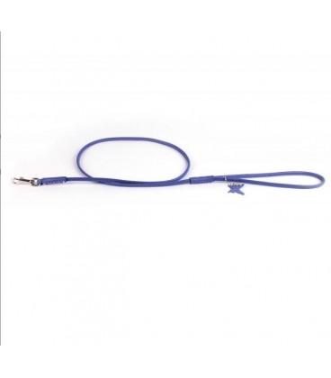 Collar Glamour Trela de Couro Purpura (L8mm C122cm)