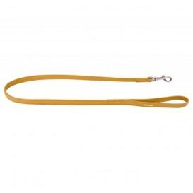 Collar Glamour Trela de Couro Amarela (L9mm C122cm)