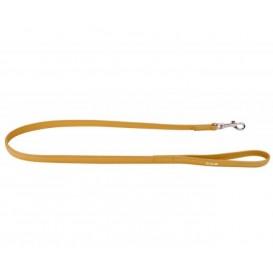 Trela de Couro - Collar Glamour 122cm Amarela