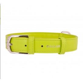 """Collar de Couro """"COLLAR Glamour"""" 19-25cm VERDE"""