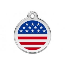 Medalha c/ Bandeira dos EUA - Red Dingo