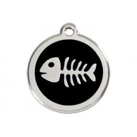 Medalha c/ Espinha de Peixe - Red Dingo